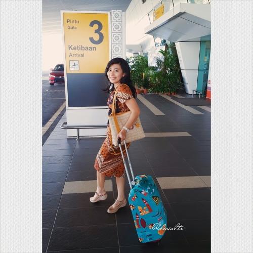 Arriving at Melaka Airport